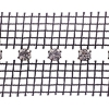 Rhinestone Banding 1 row spaced Crystal/silver black net on both sides Standard SS19